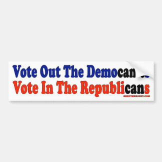 Wählen Sie heraus Democan't Abstimmung im Autoaufkleber