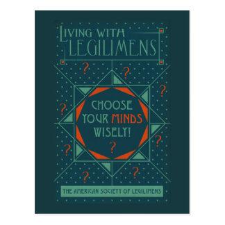 Wählen Sie Ihr Verstandklug - Legilimens Plakat Postkarte