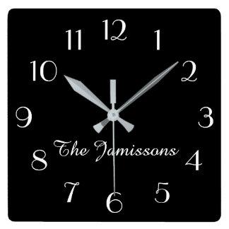 WÄHLEN Sie IHRE FARBE, die Uhr, personalisiert Quadratische Wanduhr