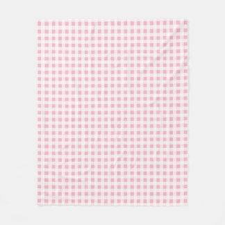 Wählen Sie Ihre Farbgingham-Muster-Fleece-Decke Fleecedecke