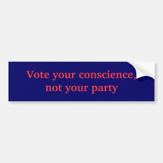 Wählen Sie Ihre Gewissenhaftigkeit, nicht Ihr Autoaufkleber