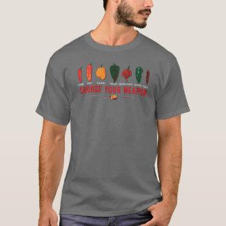 Wählen Sie Ihre Waffen-heißen Paprikaschoten T-Shirt
