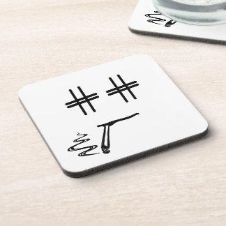 WÄHLEN Sie JEDE MÖGLICHE FARBE # Hashtag Untersetzer