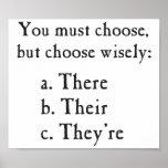Wählen Sie klug dort ihr sie sind Grammatik