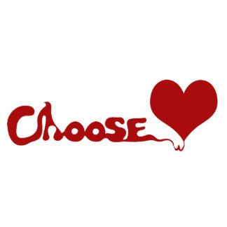 Wählen Sie Liebe Freistehende Fotoskulptur