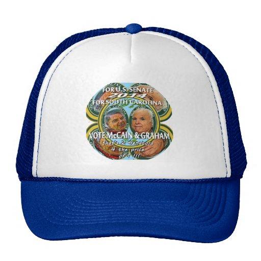 Wählen Sie McCain u. Graham 2014 - Hüte u. Becher Trucker Mütze