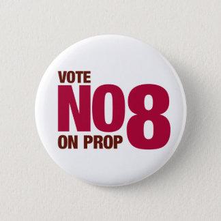 Wählen Sie nein auf Kalifornien-Vorschlag 8 Runder Button 5,7 Cm