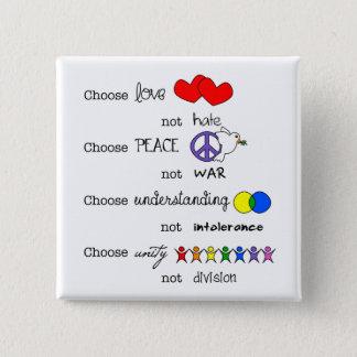 Wählen Sie Quadratischer Button 5,1 Cm
