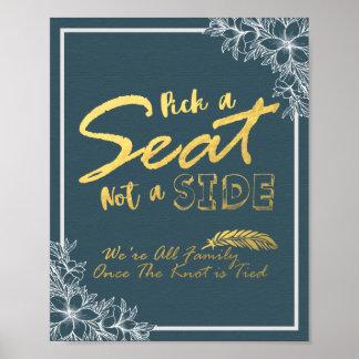 Wählen Sie Seat nicht ein Poster