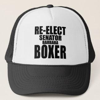 Wählen Sie Senator Barbara Boxer wieder Truckerkappe