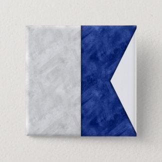 Wählen Sie von 26 Aquarell-Seeseeflaggen Quadratischer Button 5,1 Cm