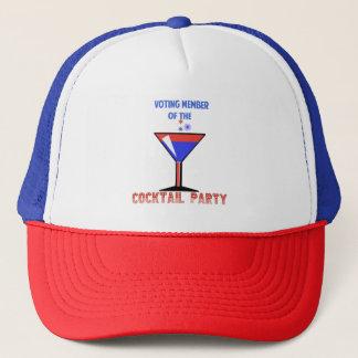 Wählenmitglied des COCKTAIL-PARTY Truckerkappe