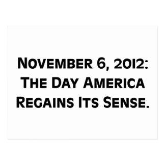 Wahltag 2012, als Amerika seine Richtung Postkarte