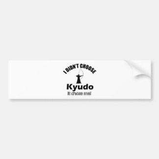 Wählte nicht Kyudo Autoaufkleber