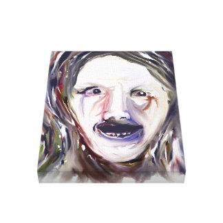 Wahnsinn - wütendes Gesicht des Expressionismus-11 Leinwand Drucke