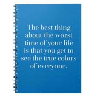 Wahre Farbzitat Notizbücher