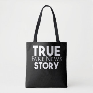 Wahre Geschichten-Fake-Nachrichten Tasche