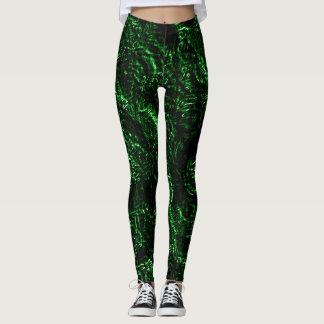 Wahre grüne Goth Rosen Leggings
