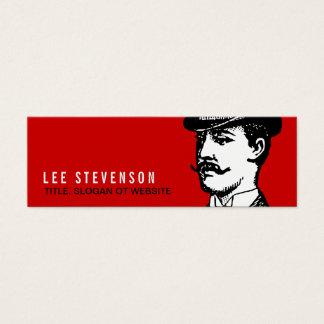 Wahre Herr-Karten-Vintager Hipster rot und schwarz Mini Visitenkarte