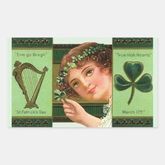 Wahre irische Herzen Rechteckiger Aufkleber