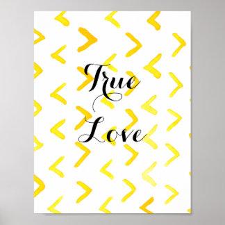 Wahre Liebe fertigen Msg besonders an Poster