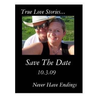 Wahre Liebe-Geschichten Postkarte