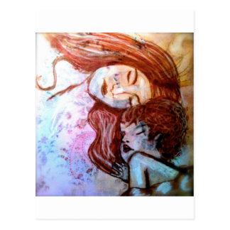 Wahre Liebe ist die der Mutter für Kind Postkarte