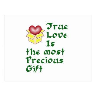 Wahre Liebe ist… - Grün Postkarte