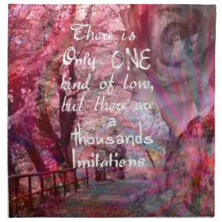 Wahre Liebe ist nicht einfach, es zu finden Serviette