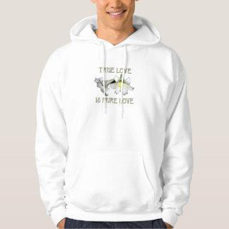 Wahre Liebe ist reine Liebe (weiße Osterlilien) Hoodie
