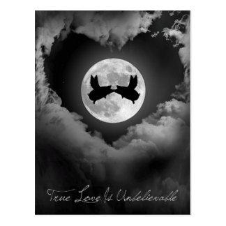 Wahre Liebe ist Unglaublich-Fliegen Schwein-Küssen Postkarte