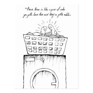 wahre Liebe ist wie ein Paar Socken Postkarte