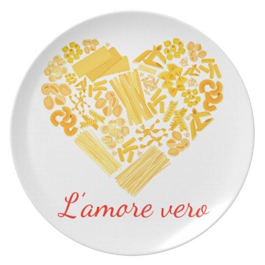 Wahre Liebe - italienische Teigwaren-Servierplatte Teller