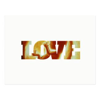 Wahre Liebe-Postkarten-Werbung Postkarte