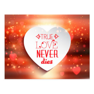 Wahre Liebe stirbt nie Postkarte