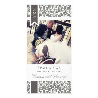 WAHRE LIEBE WEDDING %PIPE% DANKEN IHNEN PERSONALISIERTE FOTO KARTE