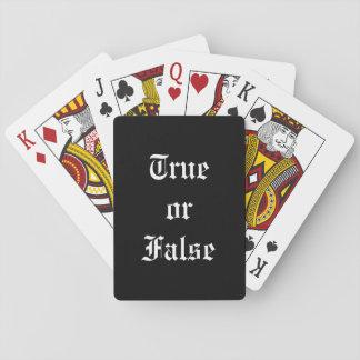 Wahre oder falsche Spielkarten, Spielkarten