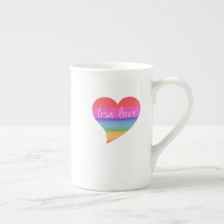 Wahre Regenbogenvalentines der Liebe-LGBT Tasse
