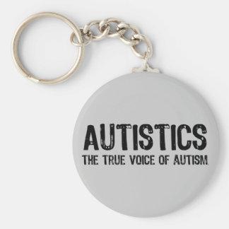 Wahre Stimme von Autismus Keychain Standard Runder Schlüsselanhänger