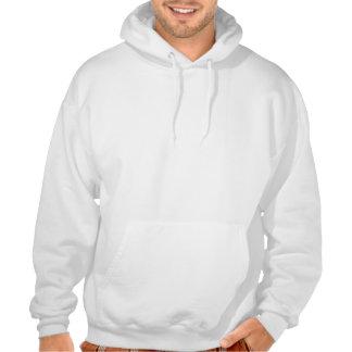 Während des Tages kleide ich oben wie ein Kapuzensweatshirt