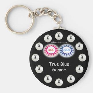 Wahrer blauer Gamer-Flipperautomat Schlüsselband