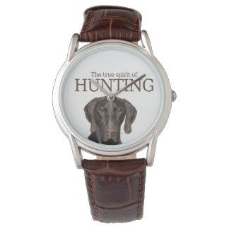 Wahrer Geist des glatten Graubären von Jagd Armbanduhr
