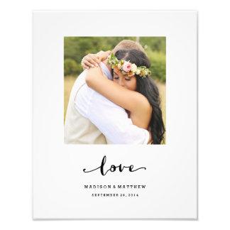 Wahrer personalisierter Hochzeits-Druck der Fotodruck