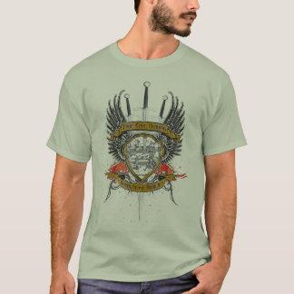 Wahrer Rand-HochschulfarbWappen-T - Shirt