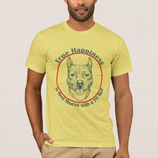 Wahres Glück mit einer Pitbull T-Shirt