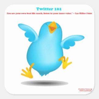 Wahrheit des Twitter-101 über das Leben trainiert Quadrat-Aufkleber