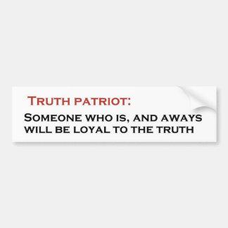 Wahrheits-Patriot Autoaufkleber