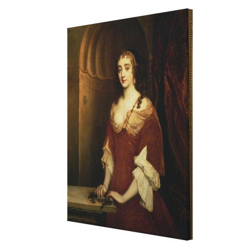 Wahrscheinliches Porträt von Nell Gwynne (1650-87) Galerie Falt Leinwand