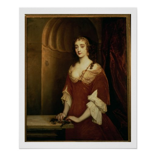 Wahrscheinliches Porträt von Nell Gwynne (1650-87) Plakate