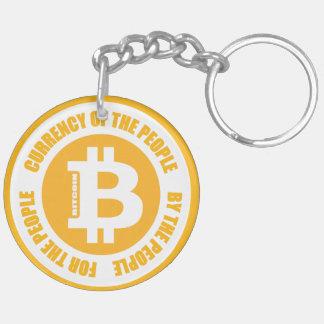 Währung der Leute durch die Leute für das Peopl Beidseitiger Runder Acryl Schlüsselanhänger